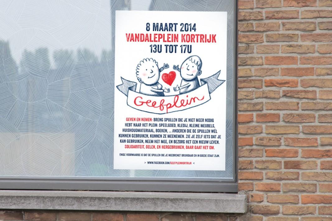 Geefplein poster
