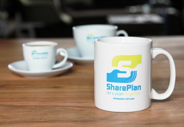 SharePlan cups and mug