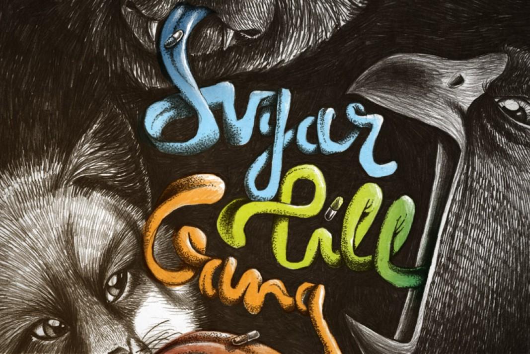 Illustratie platenhoes Sugar Pill Gang