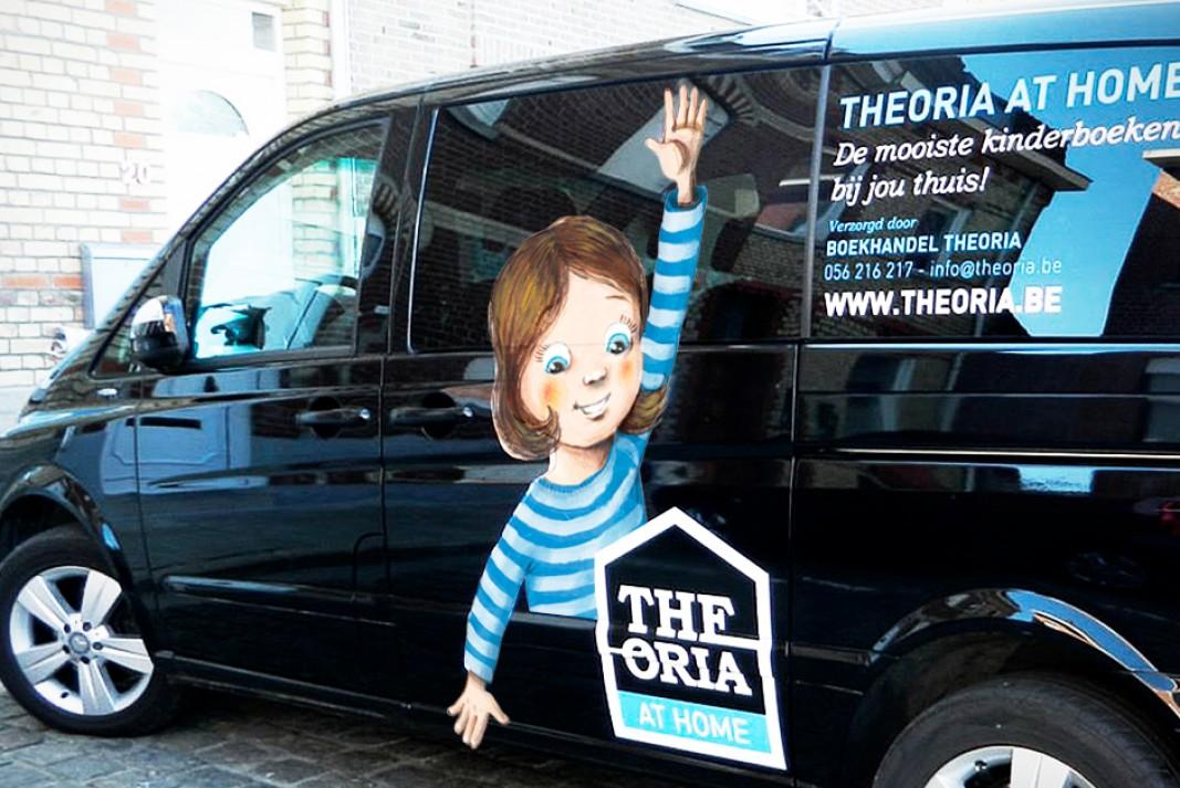 Theoria at Home wagen bestickering