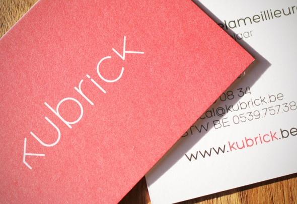 Kubrick business card